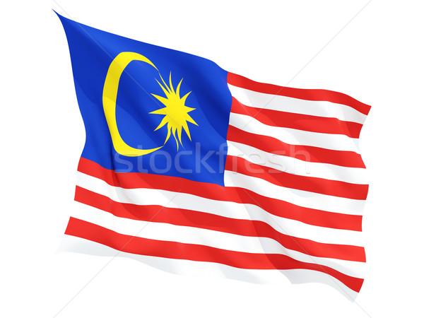 Bandiera Malaysia isolato bianco Foto d'archivio © MikhailMishchenko
