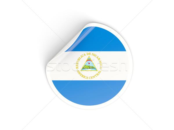Matrica zászló Nicaragua izolált fehér utazás Stock fotó © MikhailMishchenko