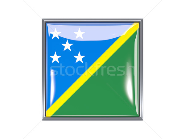 Square icon with flag of solomon islands Stock photo © MikhailMishchenko