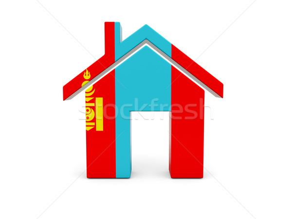 Otthon zászló Mongólia izolált fehér keresés Stock fotó © MikhailMishchenko