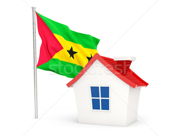 House with flag of sao tome and principe Stock photo © MikhailMishchenko