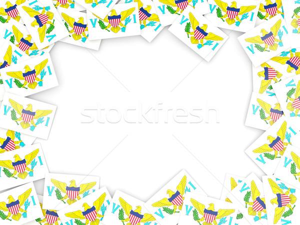 Frame with flag of virgin islands us Stock photo © MikhailMishchenko