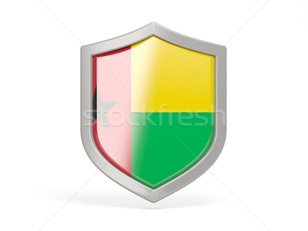 Shield icon with flag of guinea bissau Stock photo © MikhailMishchenko