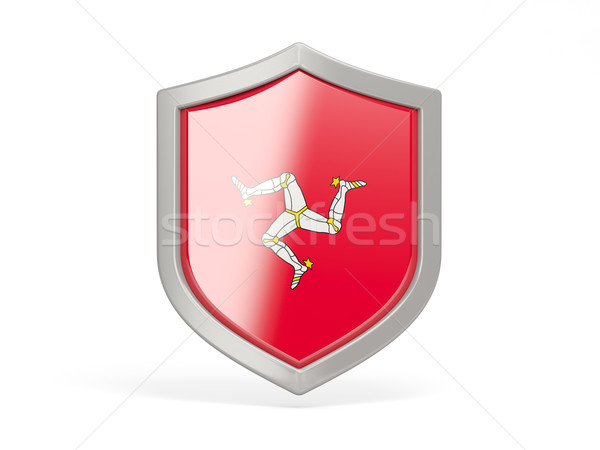 Shield icon with flag of isle of man Stock photo © MikhailMishchenko