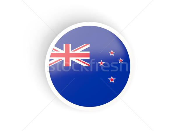 Matrica zászló Új-Zéland izolált fehér utazás Stock fotó © MikhailMishchenko