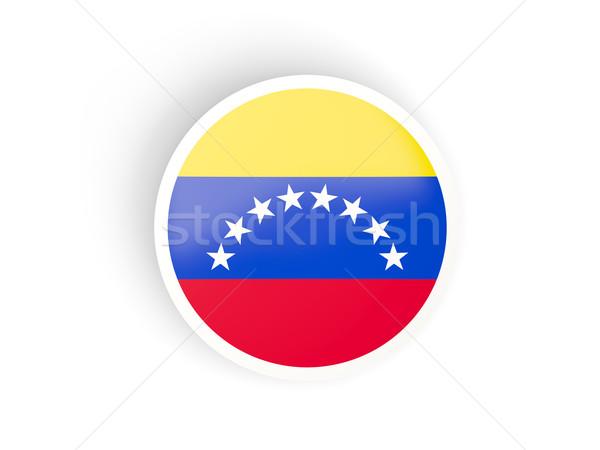 Matrica zászló Venezuela izolált fehér utazás Stock fotó © MikhailMishchenko