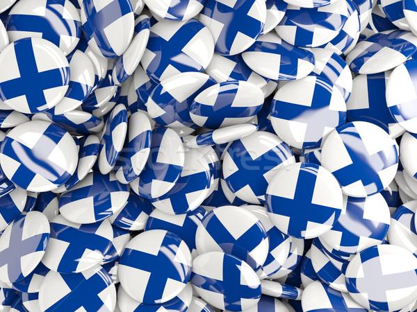 Vlag Finland achtergrond reizen land pin Stockfoto © MikhailMishchenko