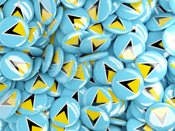 Background with round pins with flag of saint lucia Stock photo © MikhailMishchenko