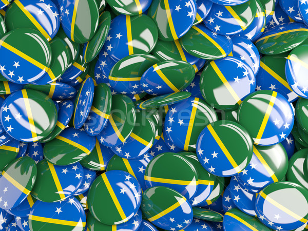 Background with round pins with flag of solomon islands Stock photo © MikhailMishchenko
