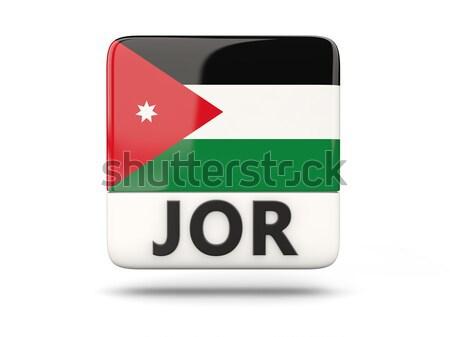 Ikona banderą Libia odizolowany biały kraju Zdjęcia stock © MikhailMishchenko