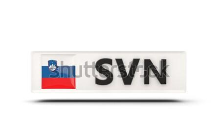 Amore Slovenia segno isolato bianco bandiera Foto d'archivio © MikhailMishchenko