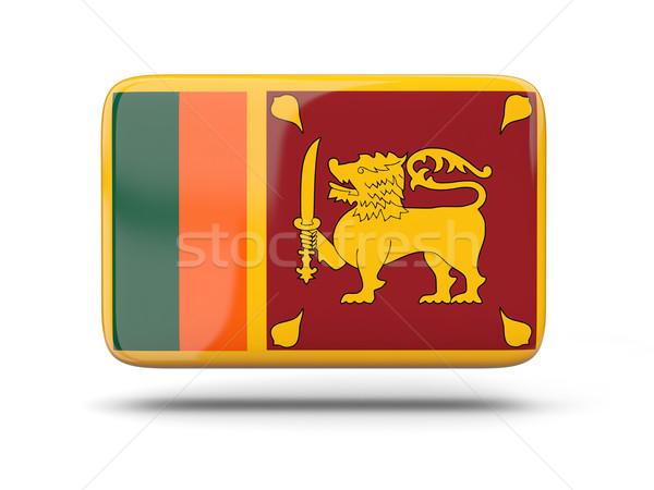 Piazza icona bandiera Sri Lanka ombra segno Foto d'archivio © MikhailMishchenko