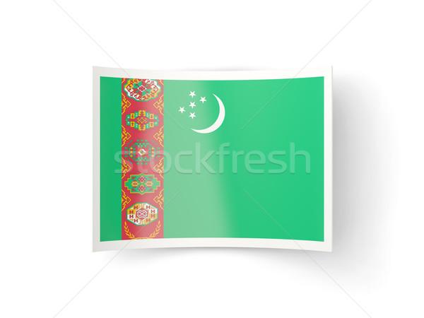 Bent icon with flag of turkmenistan Stock photo © MikhailMishchenko