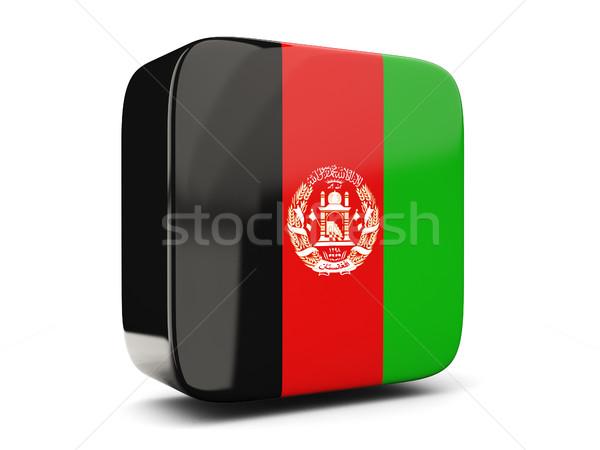 Platz Symbol Flagge Afghanistan 3D-Darstellung isoliert Stock foto © MikhailMishchenko