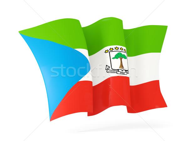 Integet zászló Egyenlítői-Guinea 3d illusztráció izolált fehér Stock fotó © MikhailMishchenko