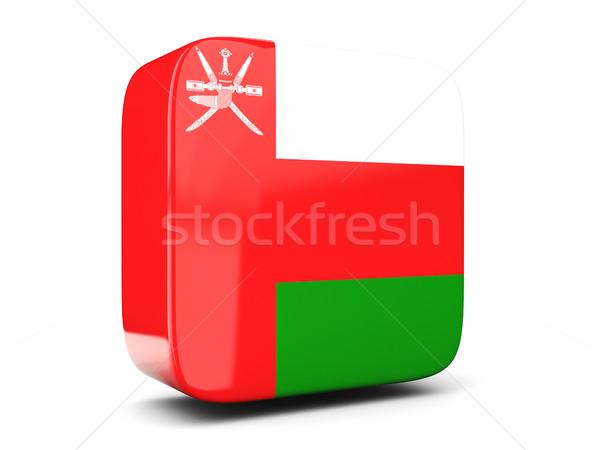 квадратный икона флаг Оман 3d иллюстрации изолированный Сток-фото © MikhailMishchenko