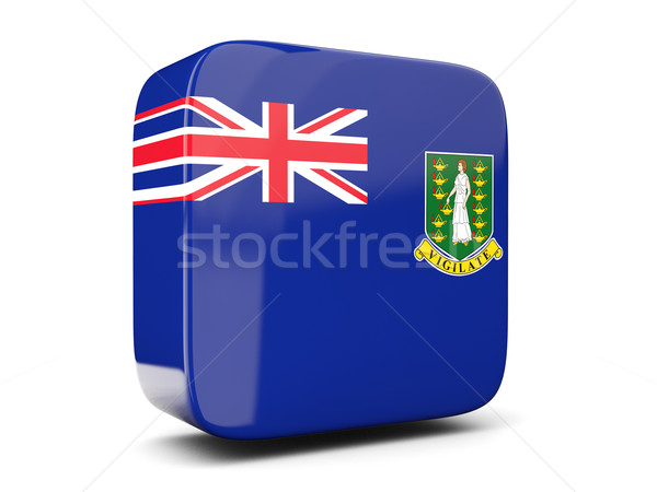 Vierkante icon vlag Virgin Islands brits 3D Stockfoto © MikhailMishchenko