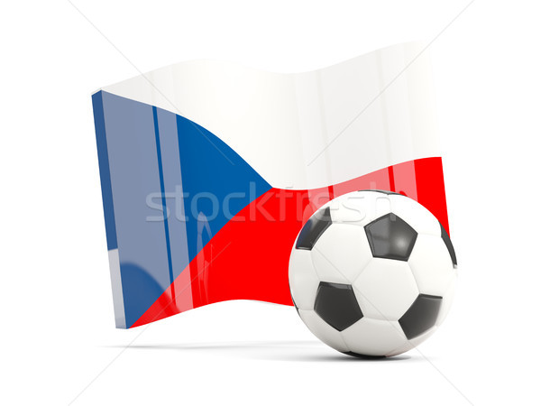 Football with waving flag of czech republic isolated on white Stock photo © MikhailMishchenko