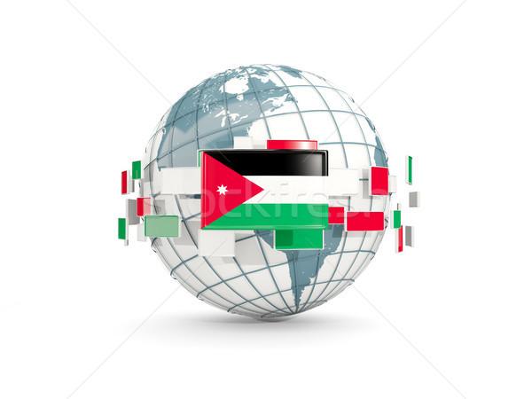 Welt Flagge isoliert weiß 3D-Darstellung Karte Stock foto © MikhailMishchenko