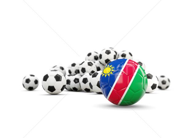 футбола флаг изолированный белый 3d иллюстрации спорт Сток-фото © MikhailMishchenko