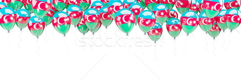 Balony ramki banderą Azerbejdżan odizolowany biały Zdjęcia stock © MikhailMishchenko