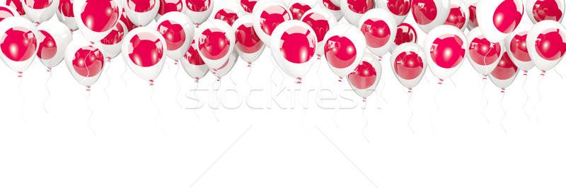 Balony ramki banderą Japonia odizolowany biały Zdjęcia stock © MikhailMishchenko