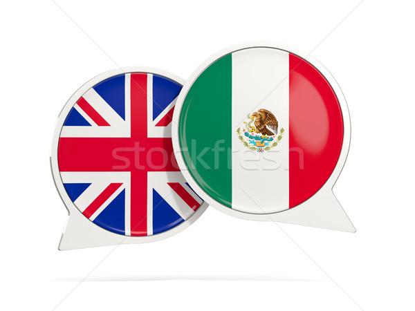 Chat bubbels Mexico geïsoleerd witte 3d illustration Stockfoto © MikhailMishchenko