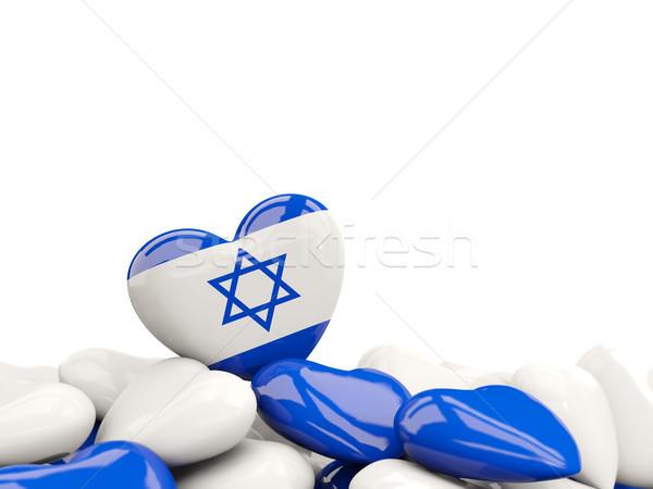 Coração bandeira Israel topo corações isolado Foto stock © MikhailMishchenko