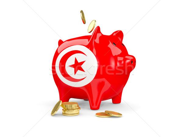 脂肪 貯金 チュニジア お金 孤立した 白 ストックフォト © MikhailMishchenko