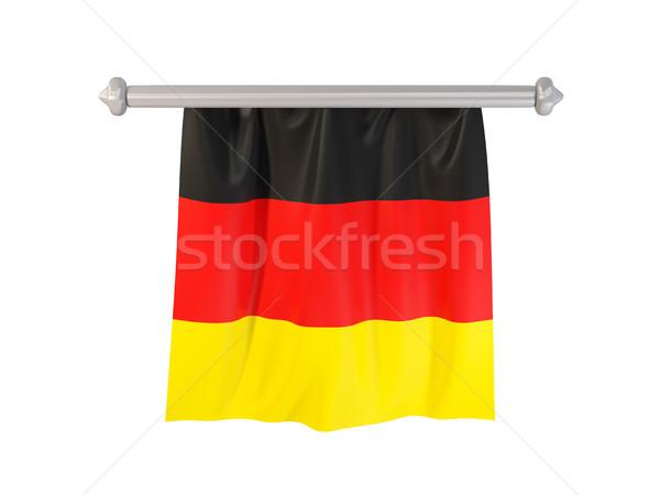 Zászló Németország izolált fehér 3d illusztráció címke Stock fotó © MikhailMishchenko