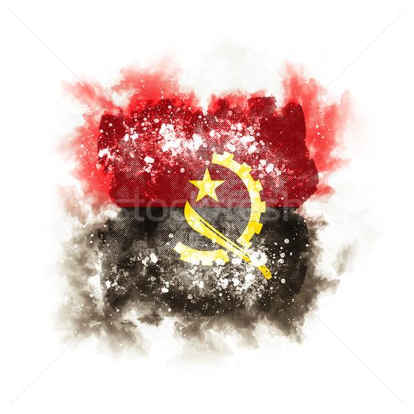 Kare grunge bayrak Tiftik dokuma 3d illustration Retro Stok fotoğraf © MikhailMishchenko