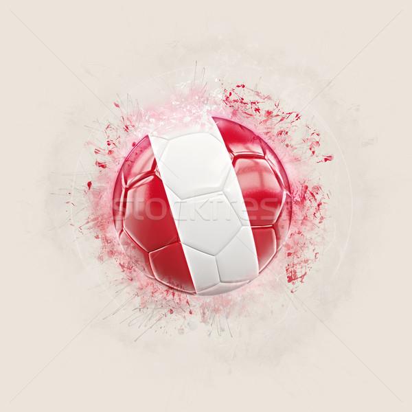 Grunge futbol bayrak Peru 3d illustration dünya Stok fotoğraf © MikhailMishchenko