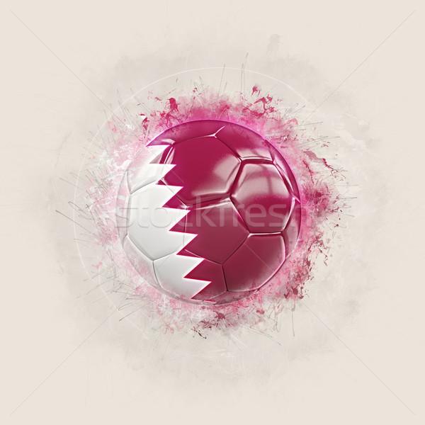 Гранж футбола флаг Катар 3d иллюстрации Мир Сток-фото © MikhailMishchenko