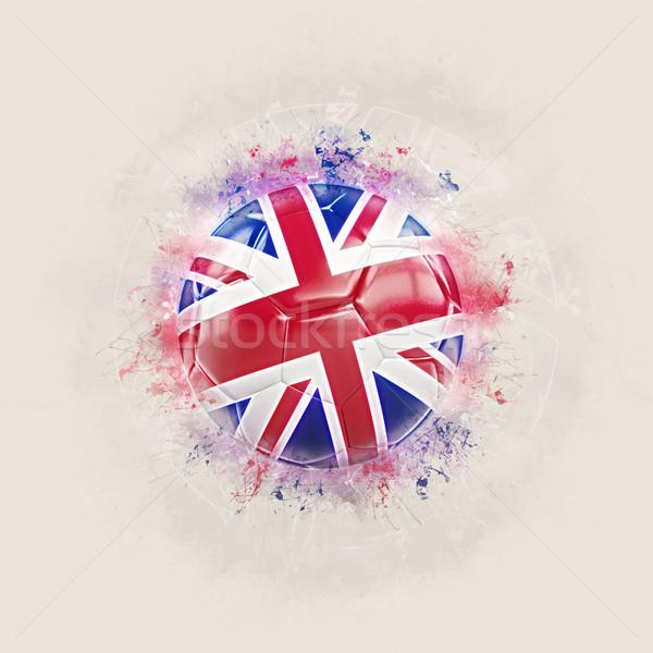 Grunge futball zászló Egyesült Királyság 3d illusztráció terv Stock fotó © MikhailMishchenko