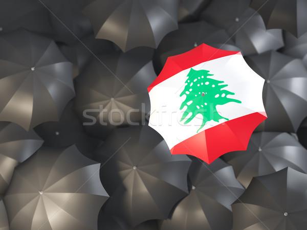 зонтик флаг Ливан Top черный Сток-фото © MikhailMishchenko