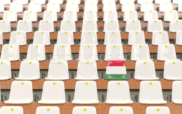 スタジアム 座席 フラグ ハンガリー 白 ストックフォト © MikhailMishchenko