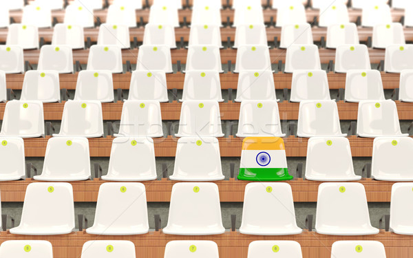 Stadium seat with flag of india Stock photo © MikhailMishchenko