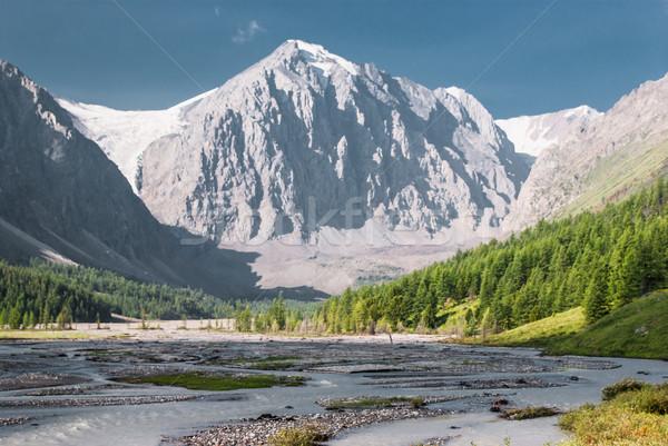 Aktru glacier. Alpine scenery at Altai Mountains Stock photo © MikhailMishchenko