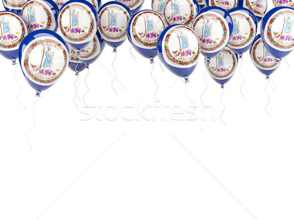 Ballons cadre pavillon Virginie États-Unis locale Photo stock © MikhailMishchenko