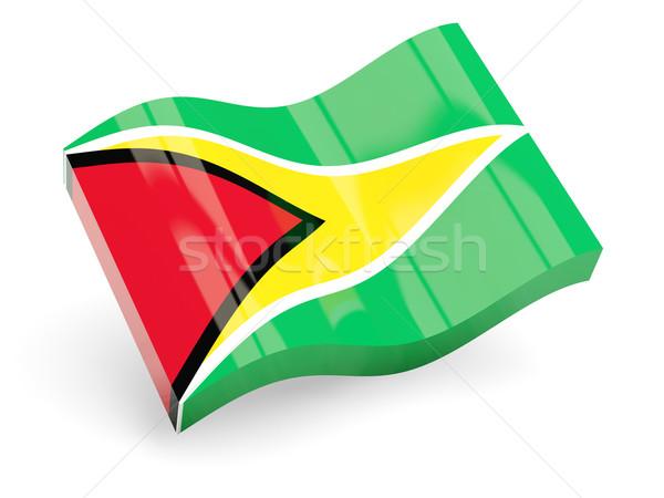 3D zászló Guyana izolált fehér hullám Stock fotó © MikhailMishchenko