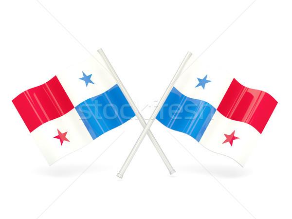 флаг Панама путешествия белый Pin баннер Сток-фото © MikhailMishchenko