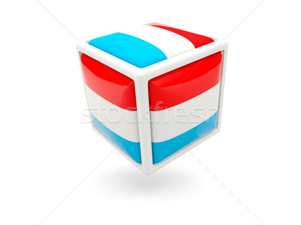 Banderą Luksemburg kostki ikona odizolowany biały Zdjęcia stock © MikhailMishchenko
