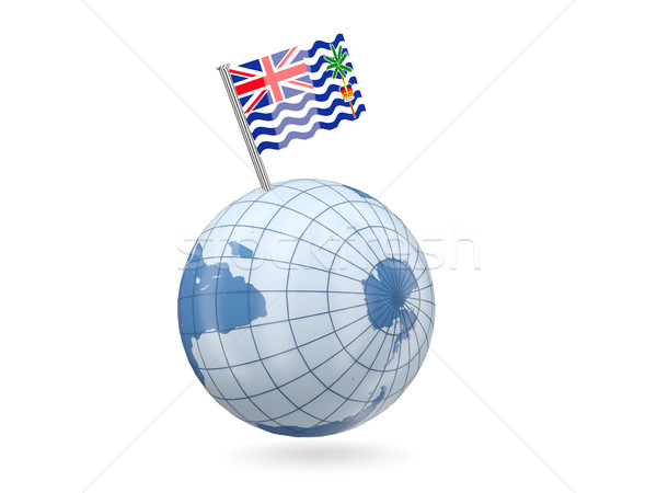 Globe with flag of british indian ocean territory Stock photo © MikhailMishchenko
