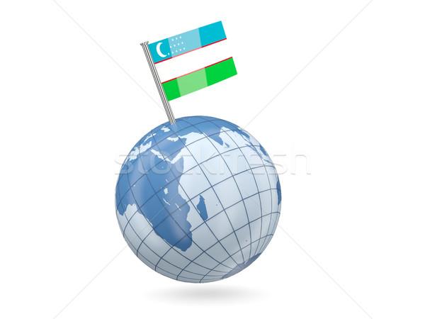 мира флаг Узбекистан синий изолированный белый Сток-фото © MikhailMishchenko