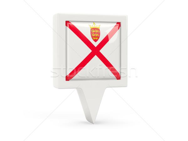 Square flag icon of jersey Stock photo © MikhailMishchenko