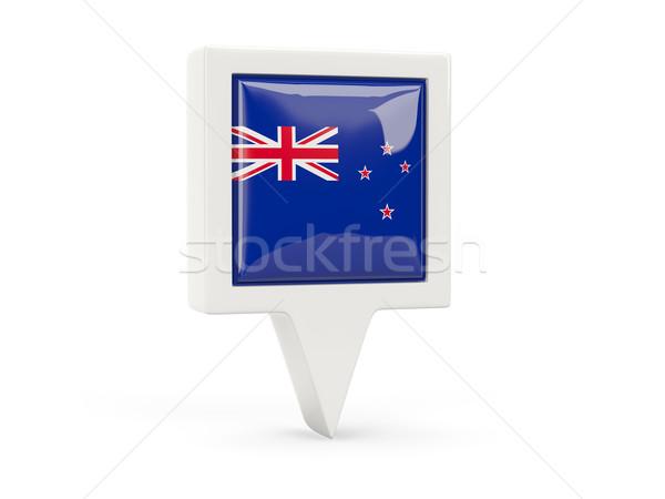 Cuadrados bandera icono Nueva Zelandia aislado blanco Foto stock © MikhailMishchenko