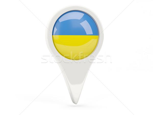 Bayrak ikon Ukrayna yalıtılmış beyaz harita Stok fotoğraf © MikhailMishchenko