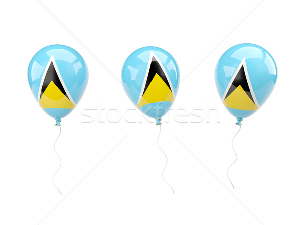 Air balloons with flag of saint lucia Stock photo © MikhailMishchenko