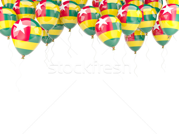 Balon ramki banderą Togo odizolowany biały Zdjęcia stock © MikhailMishchenko