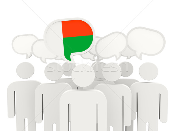 People with flag of madagascar Stock photo © MikhailMishchenko